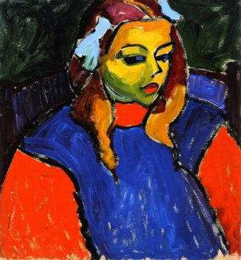 Girl with Green Face | Alexei Jawlensky | oil painting