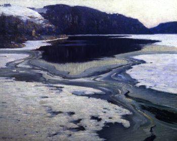 Icebound River | Charles Rosen | oil painting