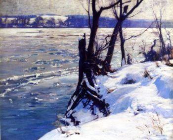 The Delaware Winter Morning | Charles Rosen | oil painting