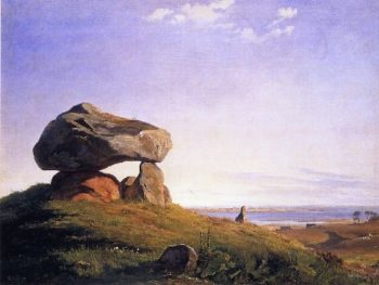 Dolmen at Taklev | Peder Mork Monsted | oil painting