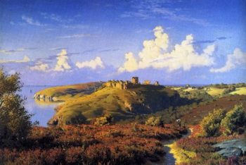 Summers Day Opposite Hammeren Bornholm | Peder Mork Monsted | oil painting