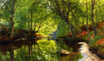Forest Stream | Peder Mork Monsted | oil painting