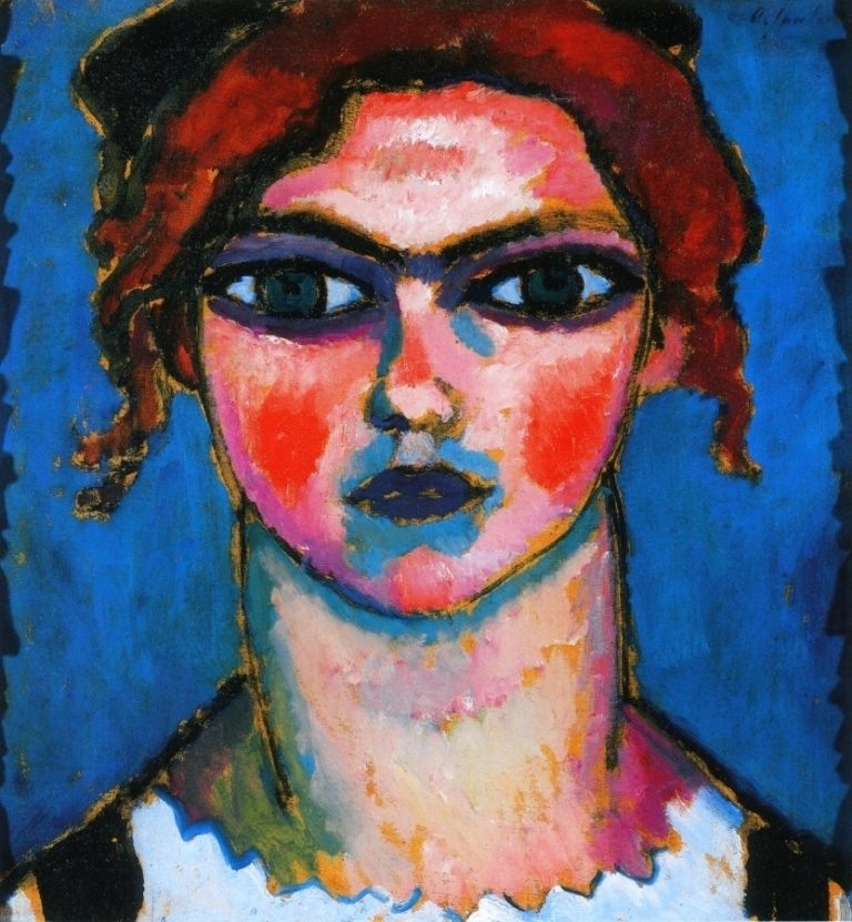 Young Girl with Green Eyes   Alexei Jawlensky   oil painting