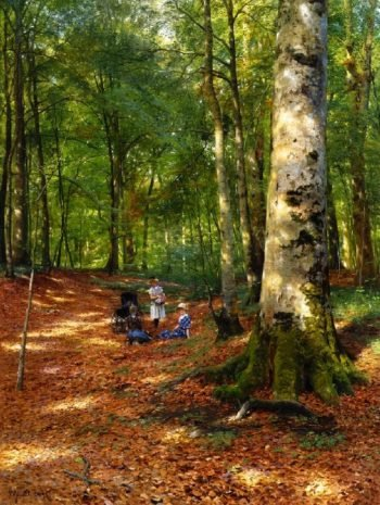 The Woodland Glade | Peder Mork Monsted | oil painting