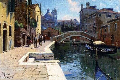 Canal in Venice | Peder Mork Monsted | oil painting