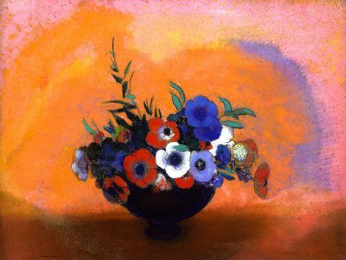 Anemones | Odilon Redon | oil painting