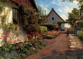 In the Garden | Peder Mork Monsted | oil painting