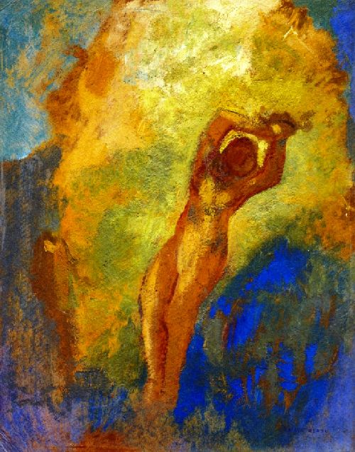 Angelica on the Rock   Odilon Redon   oil painting
