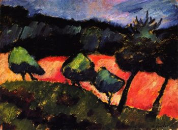 Trees and Dunes at PrerowPrivate collection   Alexei Jawlensky   oil painting