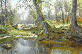 Spring Forest | Peder Mork Monsted | oil painting