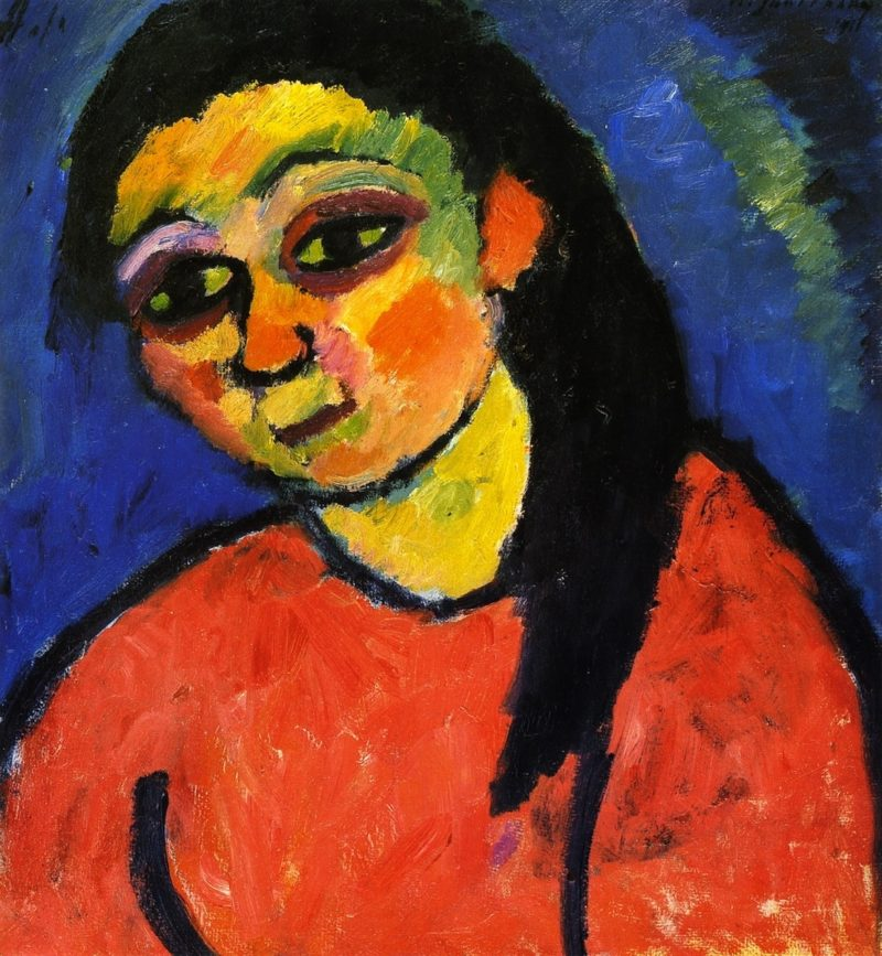 Woman in Red Blouse | Alexei Jawlensky | oil painting