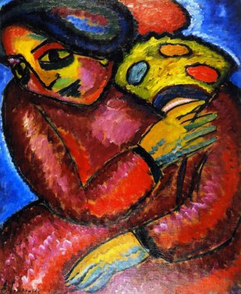 Dance with Yellow Fan | Alexei Jawlensky | oil painting
