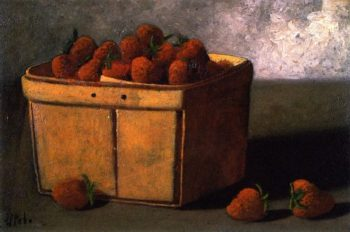 Basket of Strawberries | John Frederick Peto | oil painting
