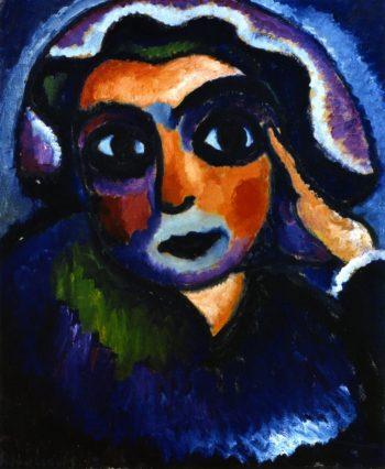 Head with Hand   Alexei Jawlensky   oil painting