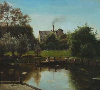 Untitled   Peder Mork Monsted   oil painting