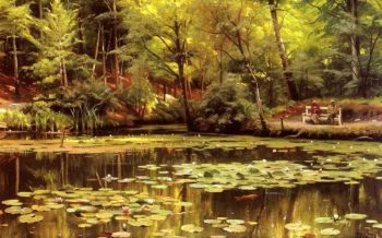 Waterlilies   Peder Mork Monsted   oil painting