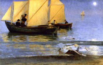 Fishing Boats | Peder Severin Kroyer | oil painting