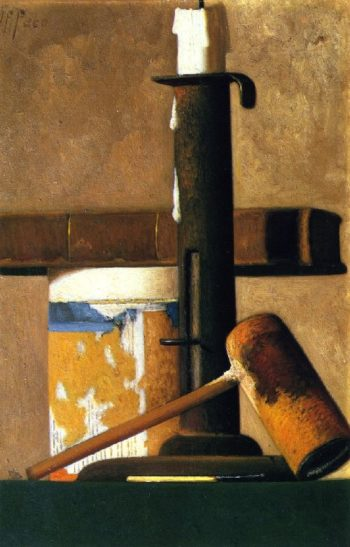 Candlestick Pipe and Mug | John Frederick Peto | oil painting