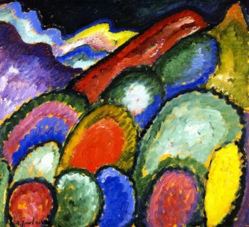 Mountains and Trees | Alexei Jawlensky | oil painting