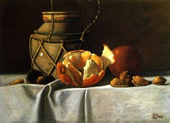 Ginger Jar and Oranges | John Frederick Peto | oil painting