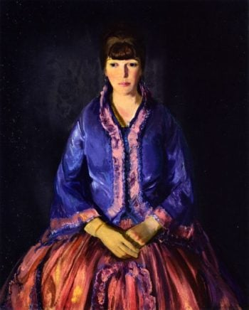Emma in the Purple Dress | George Wesley Bellows | oil painting