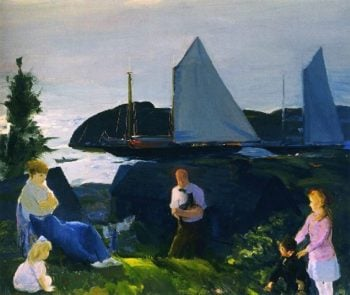 Evening Group | George Wesley Bellows | oil painting