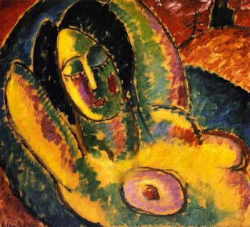 Sleeping Woman   Alexei Jawlensky   oil painting