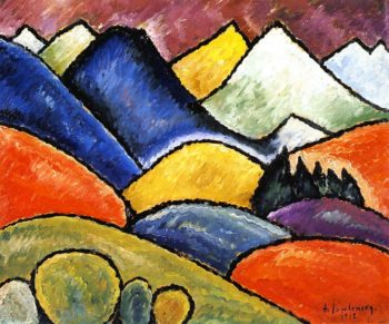 Snowy Mountains Oberstdorf | Alexei Jawlensky | oil painting