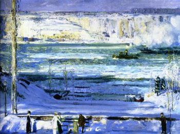 Snow Capped River | George Wesley Bellows | oil painting