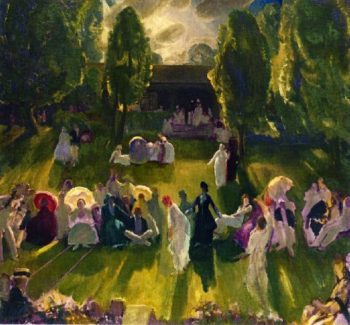 Tennis Tournament | George Wesley Bellows | oil painting