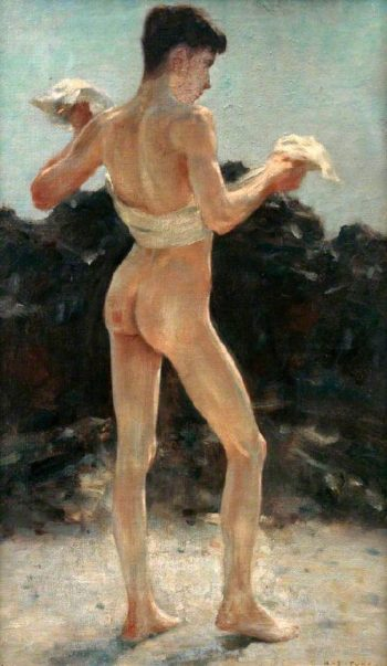 After the Bath | Henry Scott Tuke | oil painting