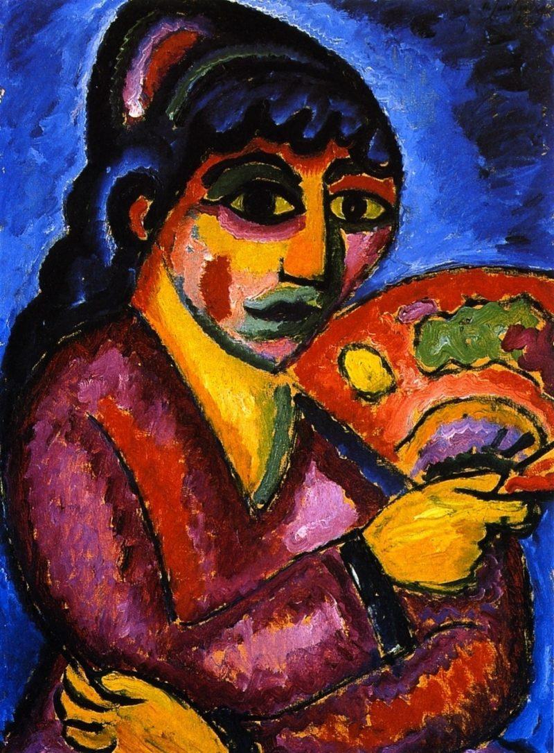 Woman from Turkestan | Alexei Jawlensky | oil painting