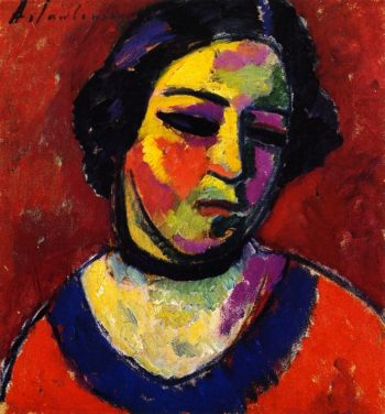 Woman's Head | Alexei Jawlensky | oil painting