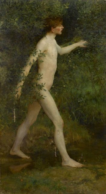 A woodland bather | Henry Scott Tuke | oil painting