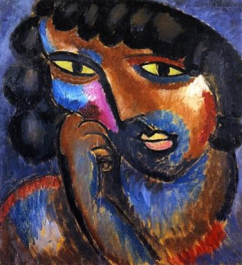 Head in Bronze Colors | Alexei Jawlensky | oil painting