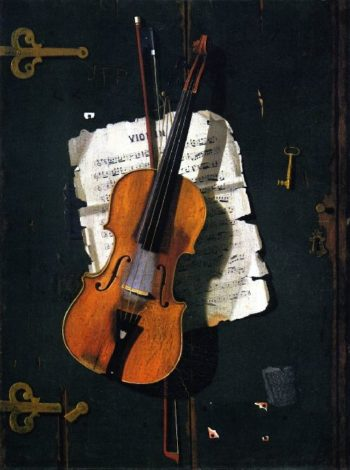 The Old Violin   John Frederick Peto   oil painting