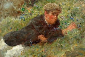 Bluebells | Henry Scott Tuke | oil painting