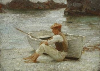 Boy and Boat | Henry Scott Tuke | oil painting