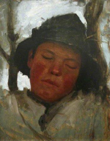 Boy Asleep | Henry Scott Tuke | oil painting