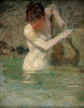 Boy Bathing | Henry Scott Tuke | oil painting
