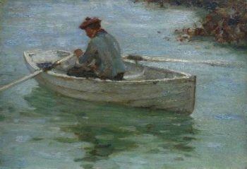 Boy in a Dinghy | Henry Scott Tuke | oil painting
