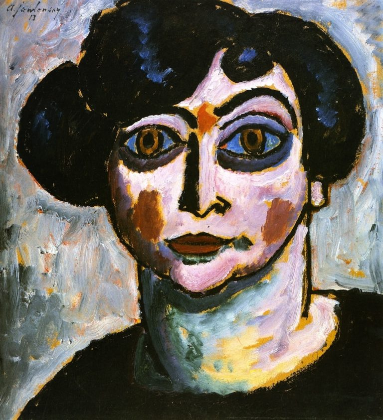 Woman with Black Hair | Alexei Jawlensky | oil painting