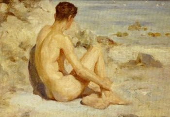 Boy On A Beach 1 | Henry Scott Tuke | oil painting