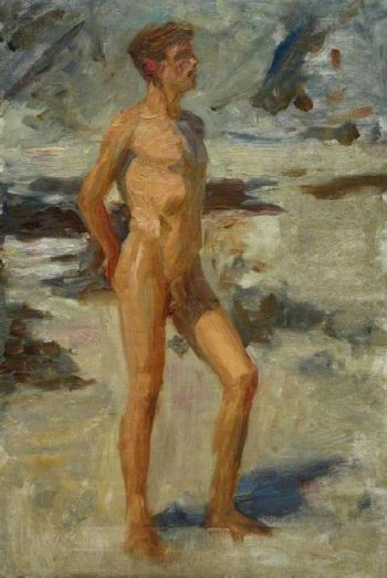 Boy On A Beach | Henry Scott Tuke | oil painting
