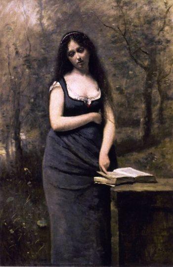 Veleda | Jean Baptiste Camille Corot | oil painting