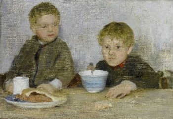 Georgie and Richard | Henry Scott Tuke | oil painting