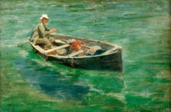 Green Waters | Henry Scott Tuke | oil painting
