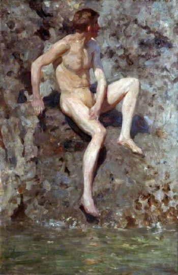 Grey and Green | Henry Scott Tuke | oil painting