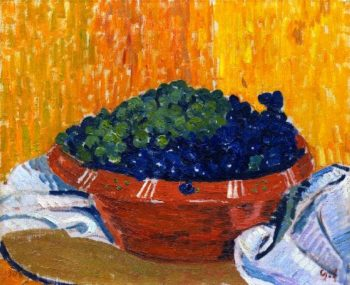 Bowl of Grapes | Giovanni Giacometti | oil painting