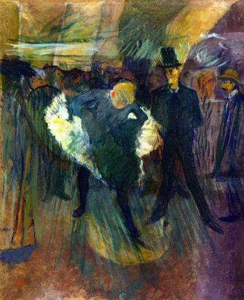 At the Moulin de la Galette | Henri de Toulouse Lautrec | oil painting